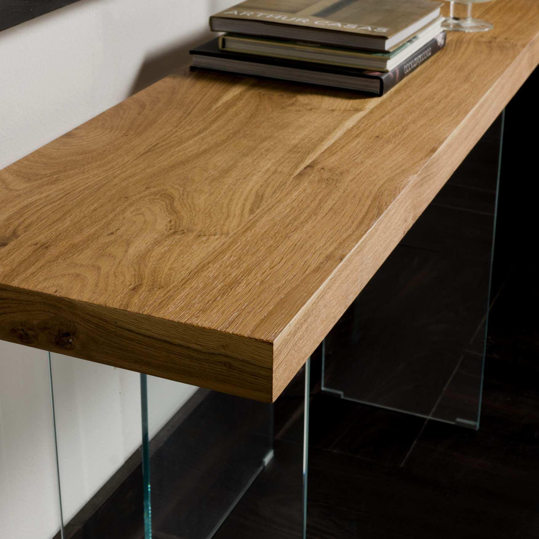 Consolle moderna legno e cristallo Flai   milanomondo