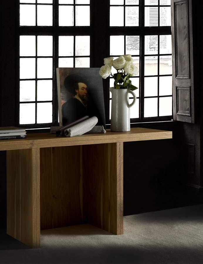 Wooden extendable console table scrocc milanomondo for Vergani arredamenti