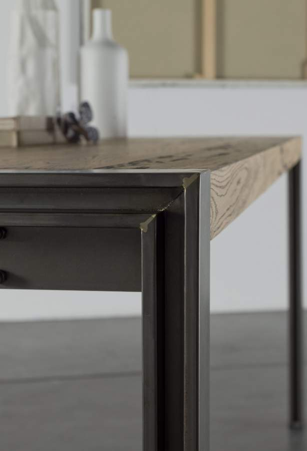 design table wood skinny milanomondo