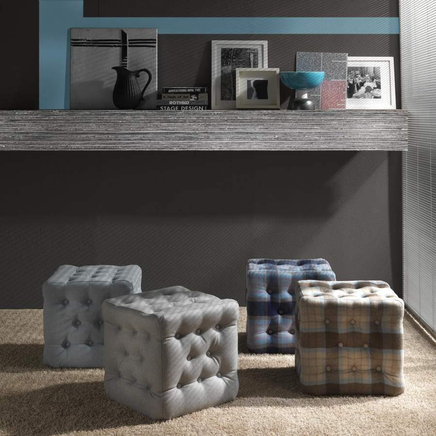 Upholstered pouf Bourby