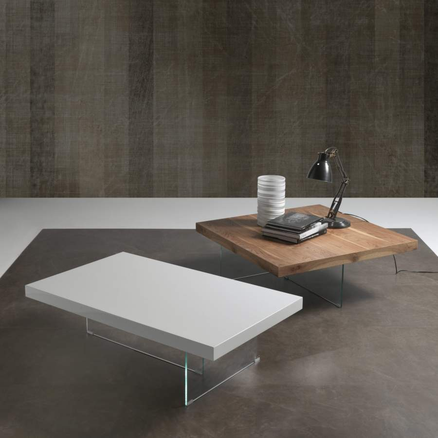 Wood and crystal table Flai