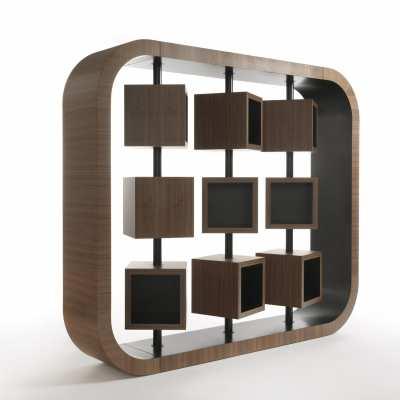 custom made bookcase curvy side