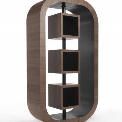 custom made bookcase curvy single side