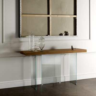 Consolle moderna legno e cristallo Flai variante