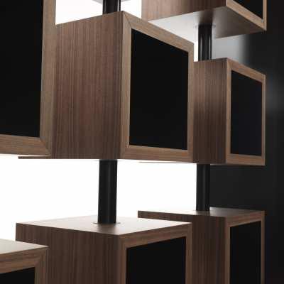 libreria design curvy dettaglio elemento girevole top centro