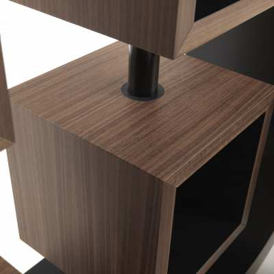 design bookcase curvy turning element detail top