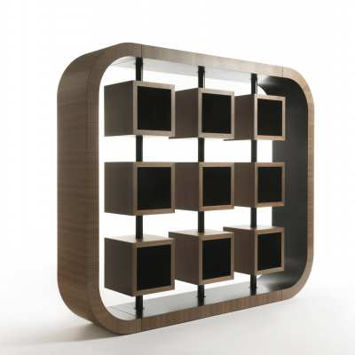 design bookcase curvy alternative perspective
