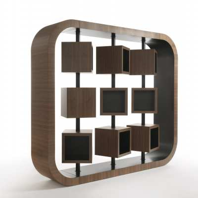 design bookcase curvy perspective