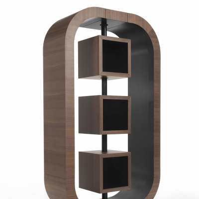 design bookcase curvy small perspective