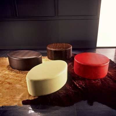 Rounded pouffs Elleo Tondo collection