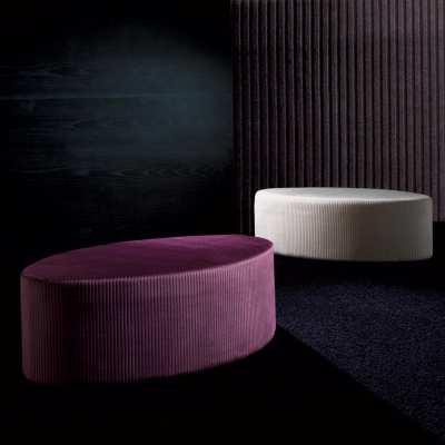 Rounded pouffs Elleo Tondo lilac