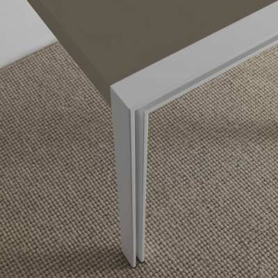 skinny design table white structure