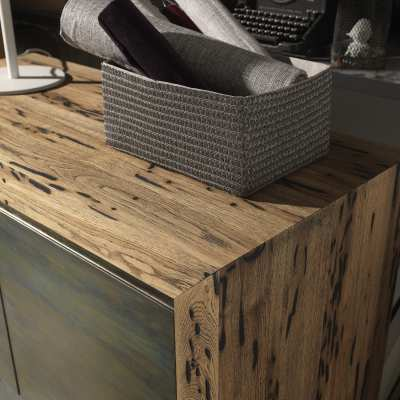 Venice's Briccole Twings 2 Ante Cupboard wood detail top and side