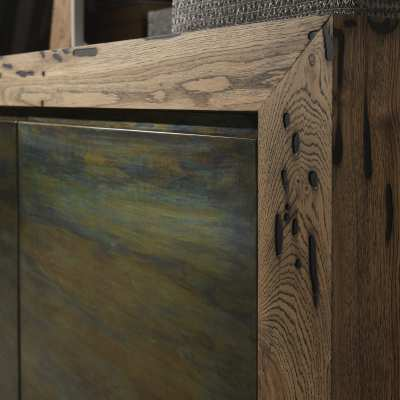 Venice's Briccole Twings 2 Ante Cupboard wood detail side