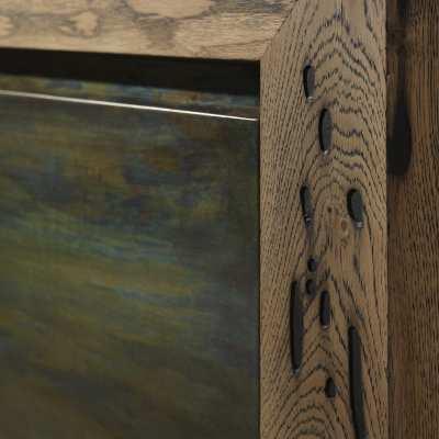 Venice's Briccole Twings 2 Ante Cupboard wood detail side zoom