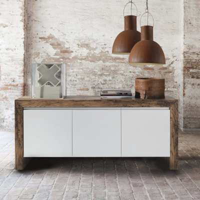 Wooden sideboard Twings 3 doors
