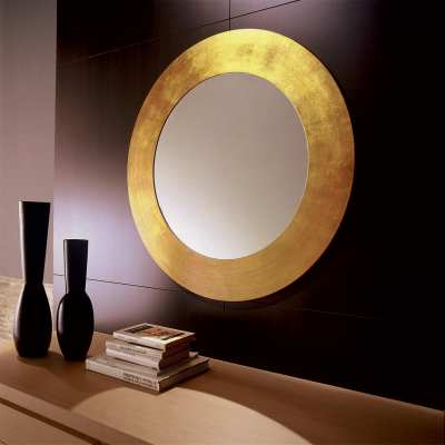 Round mirror Vanity front